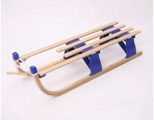 Klappschlitten aus Holz, 80cm oder 110cm, in 3 verschiedenen Farben, ab 24,99 EUR