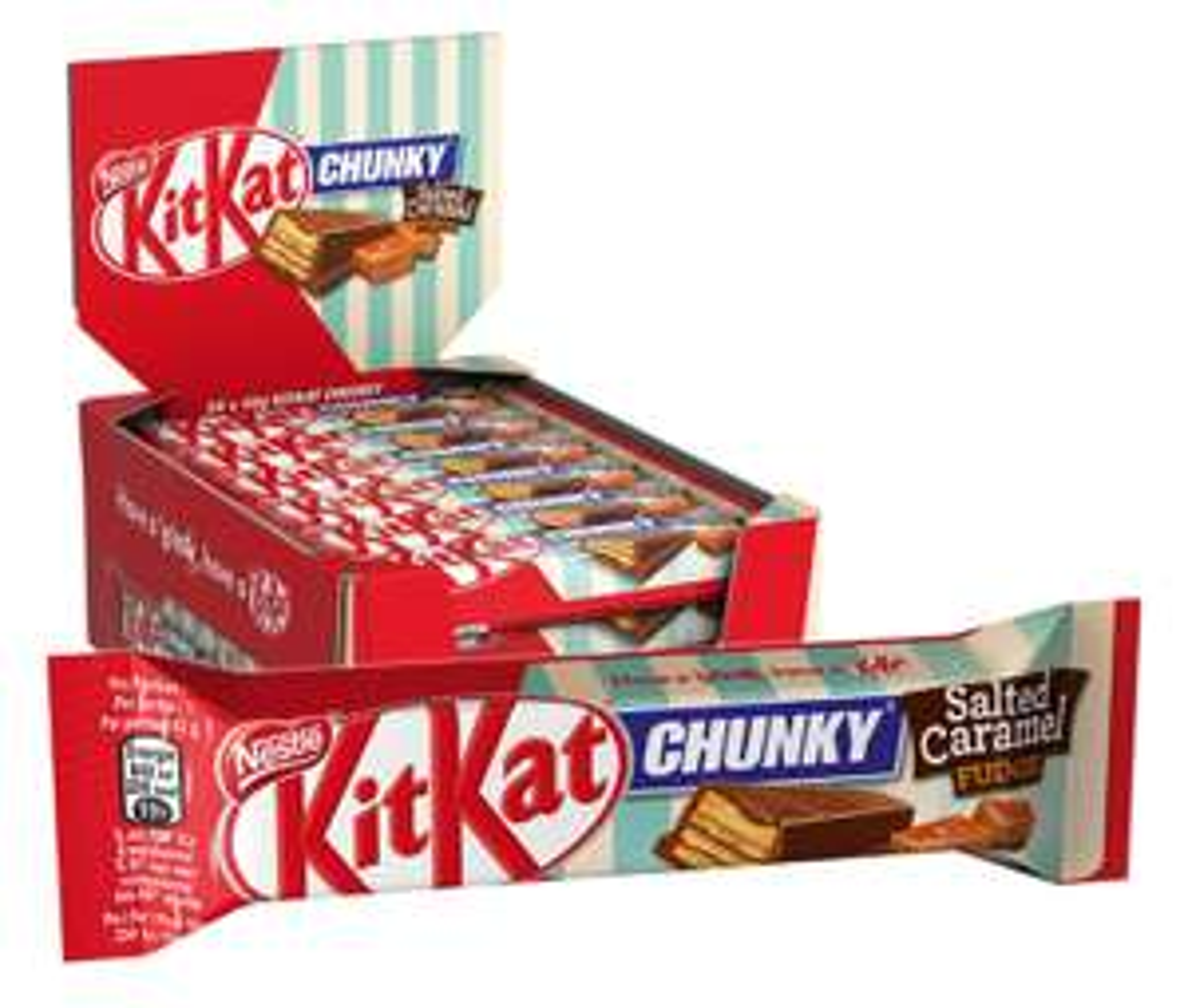 24x KitKat Chunky Salted Caramel Fudge