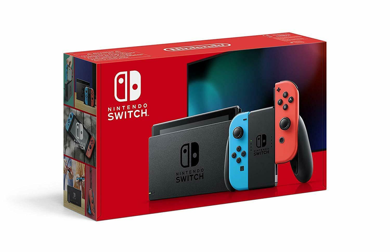 Nintendo Switch (neue Version 2019) in neon-rot/neon-blau für 249,30€ [eBay]
