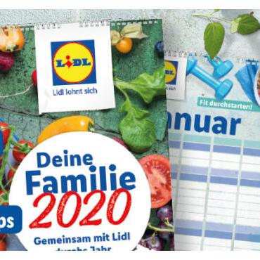 [Lidl] Gratis Familienkalender 2020 / Mandelkerne naturbelassen 200g für 1,55€ / 3M Gewebe-Klebeband für 2,59€