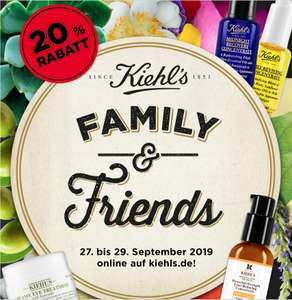 Kiehl´s Family & Friends 20% Rabatt