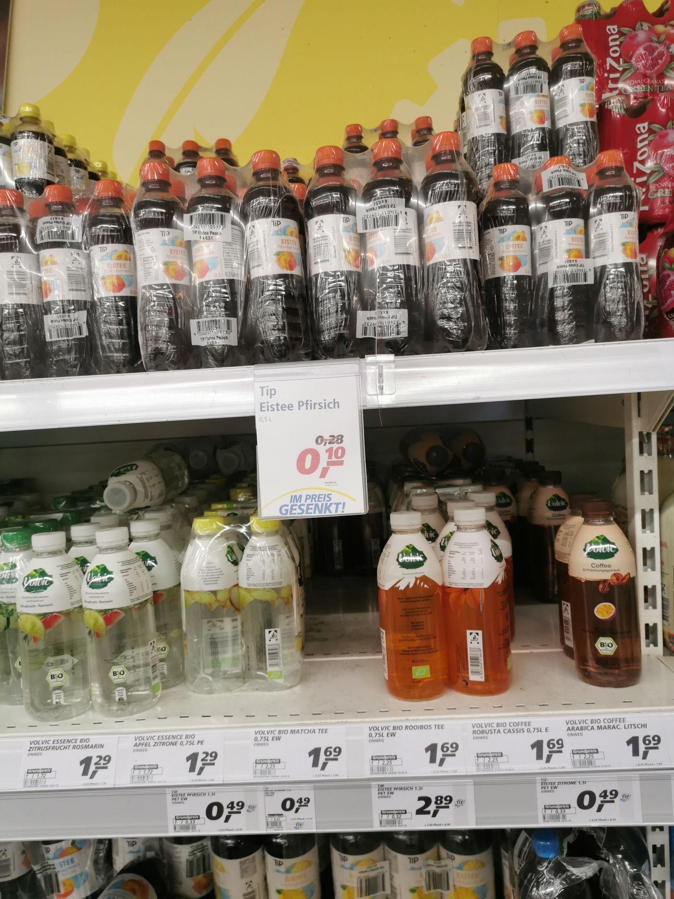 (Lokal Düsseldorf-Bilk) Tip Eistee & Iso-Drink (jeweils 0,5L) für 10 Cent (+Pfand) | haltbar bis ca. 04.10.2019