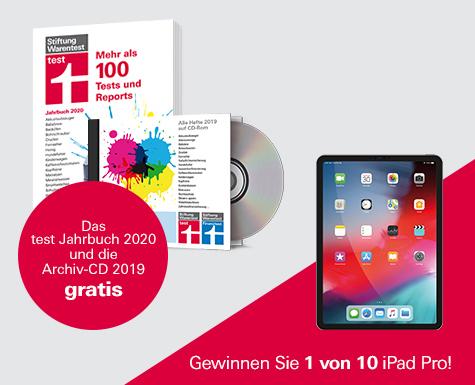 """3 x """"test"""" plus Jahres-CD 2019 (test/finanztest) und test Jahrbuch 2020 für 9,90 Euro inkl. Gewinnspiel"""