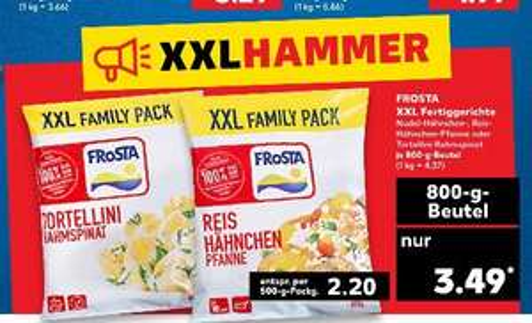 [Kaufland ab 04.10] Frosta XXL Fertiggerichte (3 Sorten) in der 800gramm Packung für 3,49€. Entspricht 2.20€ pro 500 Gramm