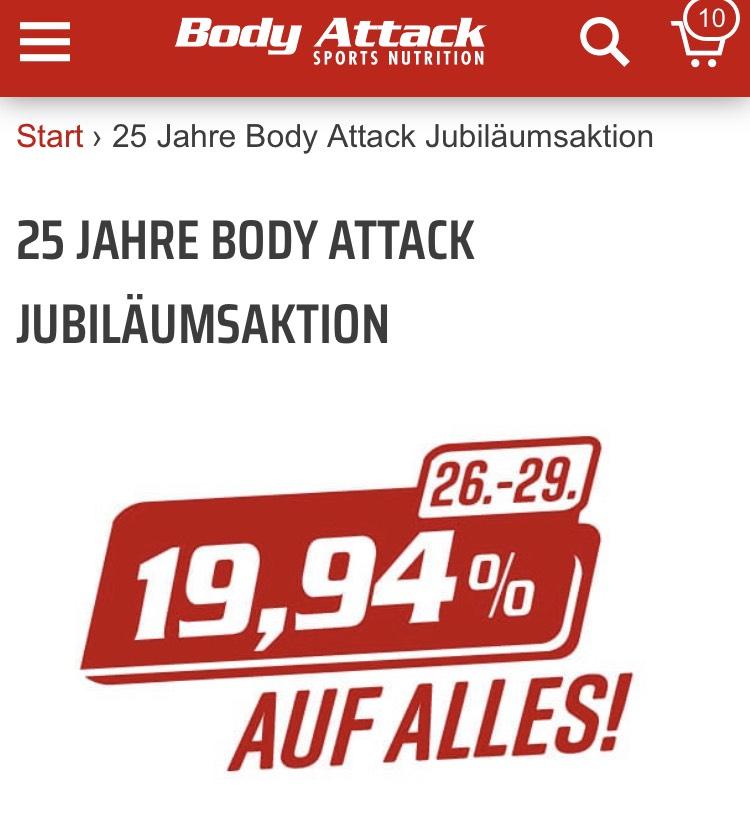 25 JAHRE BODY ATTACK JUBILÄUMSAKTION 19,94% auch Reduzierte Ware