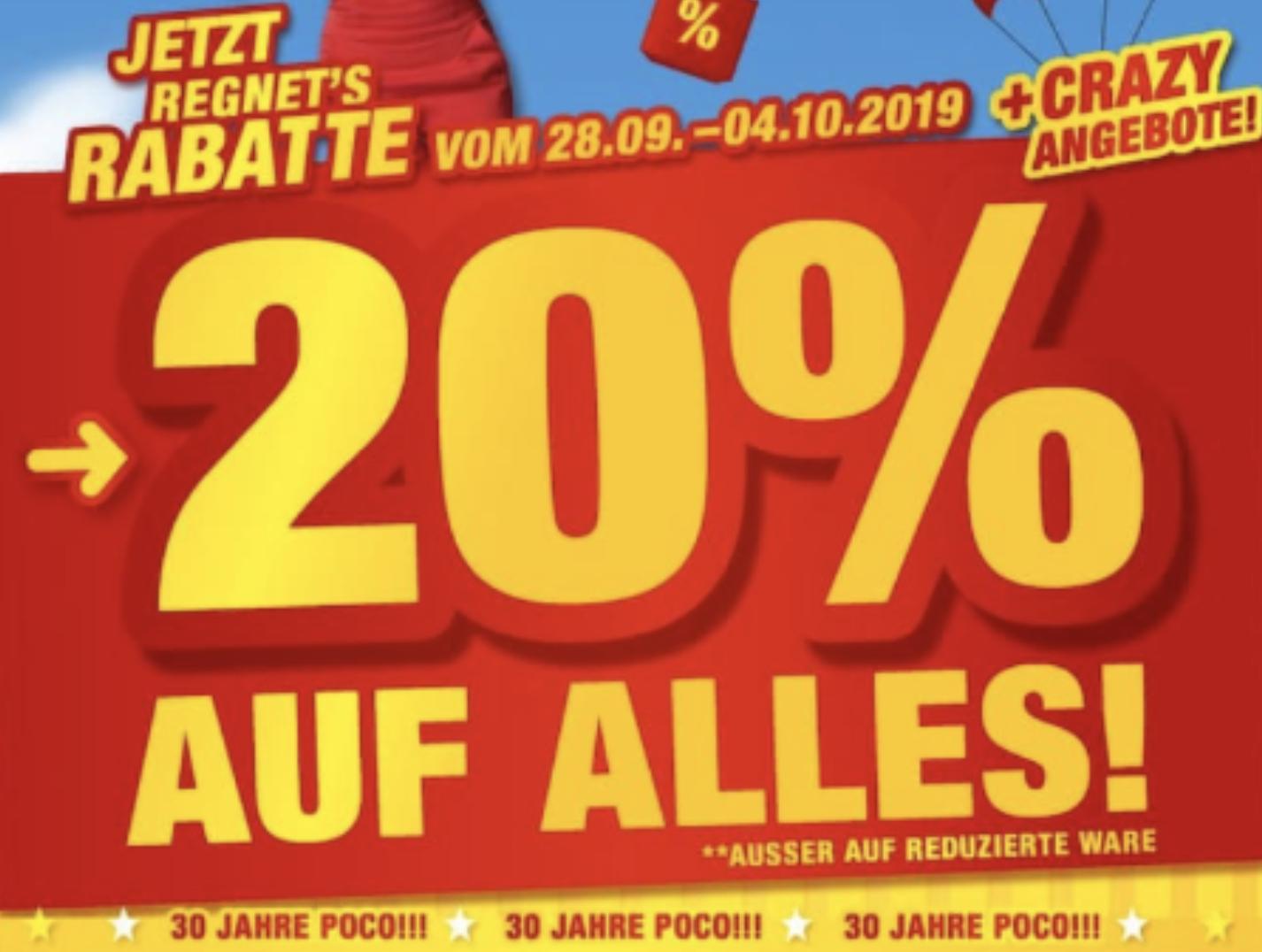 POCO: 20% Rabatt auf fast Alles, 50% auf frei geplante ...