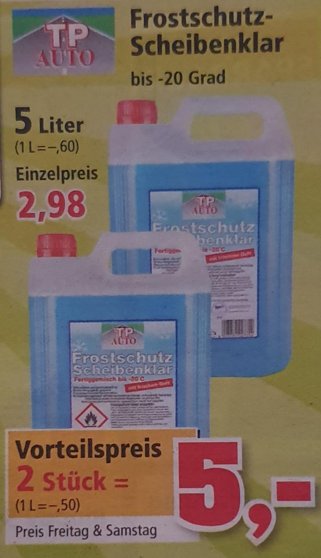 2x 5L Frostschutz Scheibenklar -20°C für 5€ [Thomas Philipps ab 04.10.]