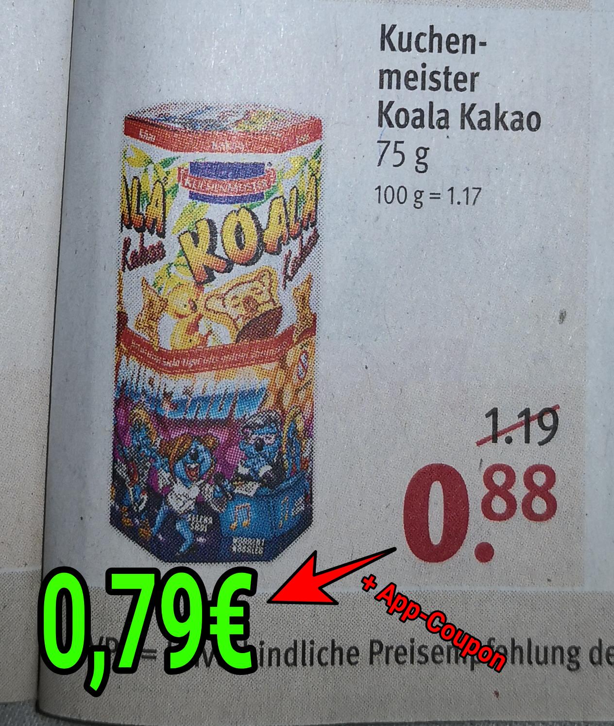 Kuchenmeister Koala Kakao, Weider Yippie! Protein Riegel, Treets, Prinzen Rolle & Lachgummi [Rossmann + Coupon]