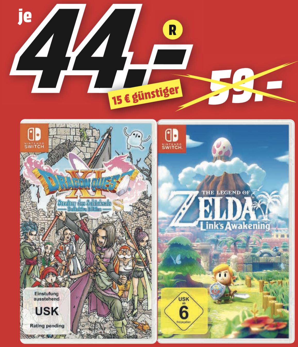 Lokal MM Rostock: Dragon Quest XI Streiter des Schicksals für 44€ / The Legend of Zelda Link's Awakening für 44€