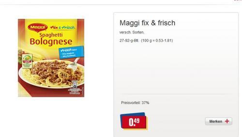 ( offline / Bundesweit ) Maggi Soßen für 49 cent statt 79 cent ca. 37% günstiger @ REWE