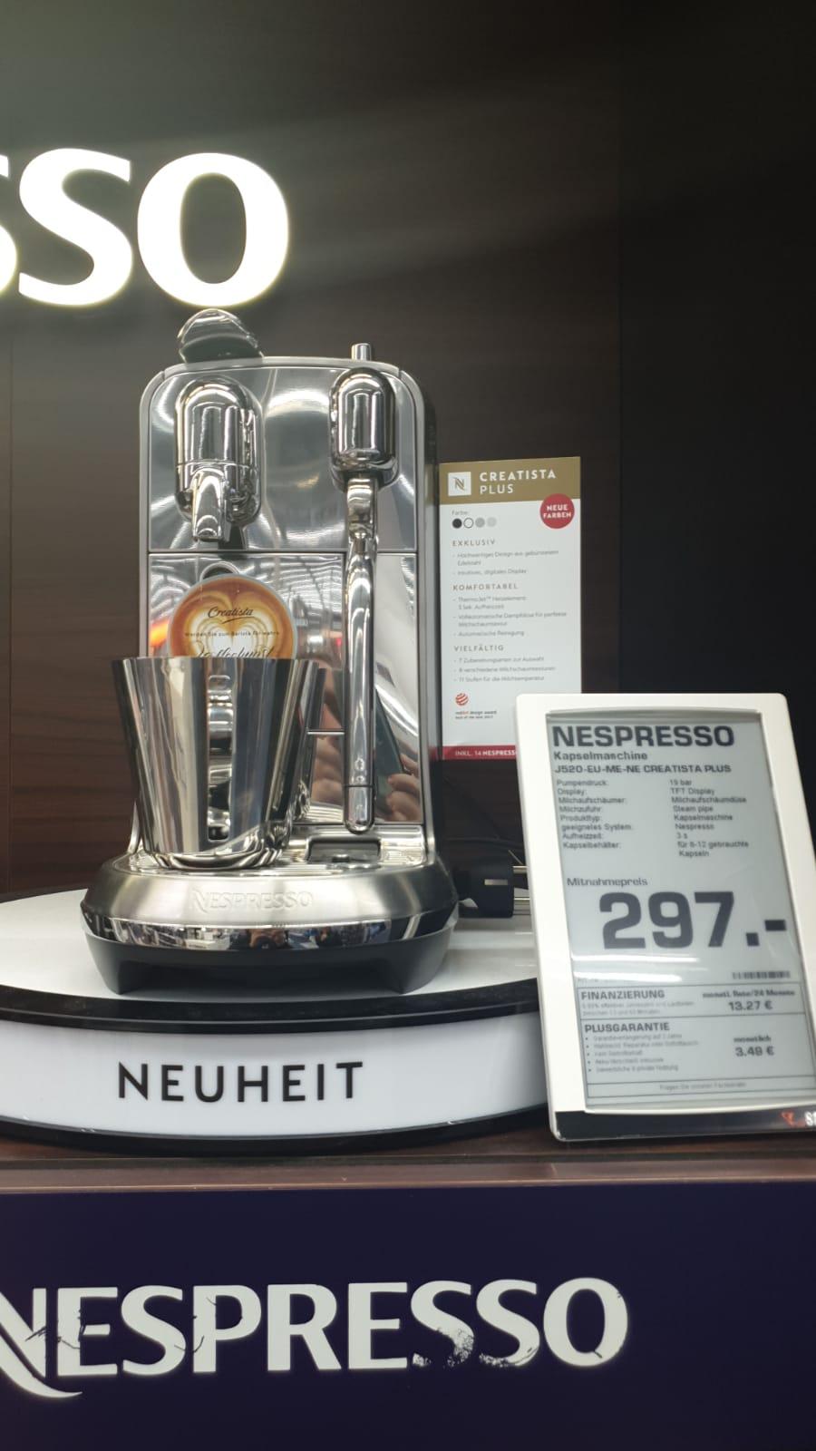 [Lokal] Saturn Heidelberg Innenstadt - Nespresso Creatista Plus stainless steel (J520-EU-ME-NE)