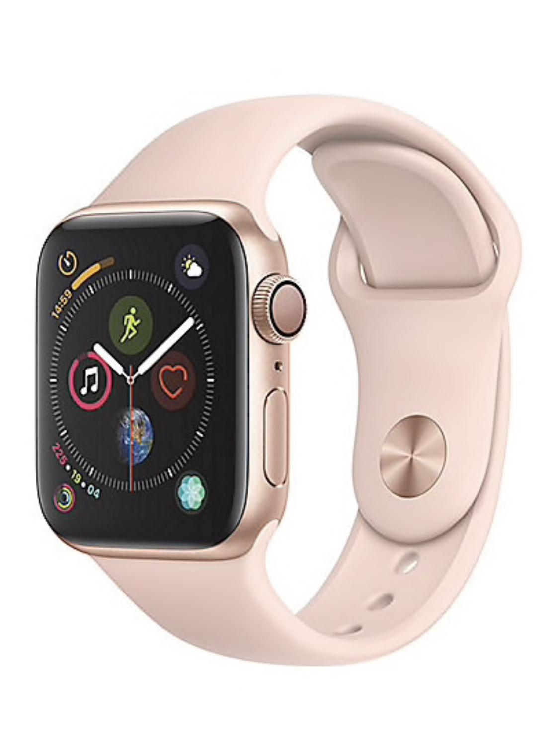 Apple Watch Series 4 GPS 40mm Aluminiumgehäuse Gold mit Sportarmband Sandrosa