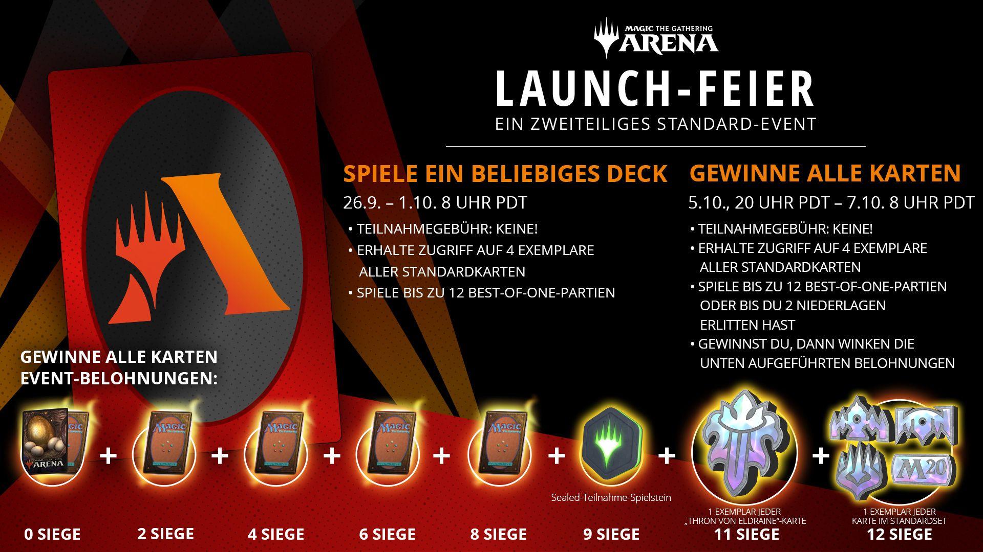 [Magic the Gathering Arena] Gratiskarten durch Launch-Event + 3 Packungen + Viele weitere Codes