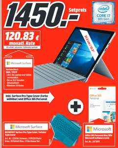 """[lokal: Media Markt Weiterstadt] Microsoft Surface Pro 6 12,3"""" 2in1 Platin i7 16GB/1TB SSD  + Type Cover + Office 365 Personal"""