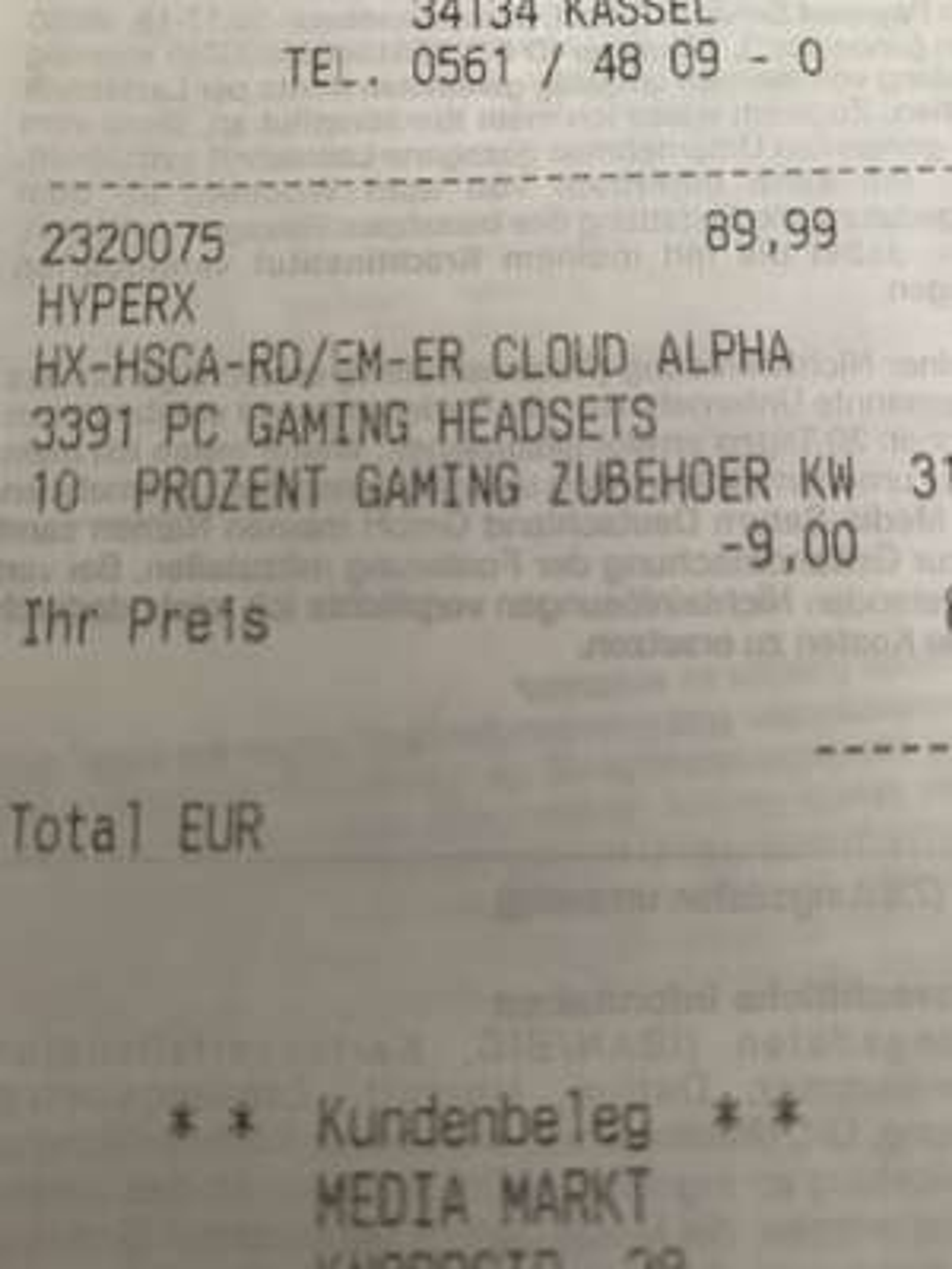 Mediamarkt 10% auf Gaming Artikel [Lokal? Kassel]