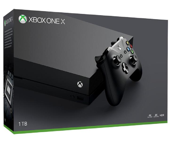 Microsoft Xbox One X°Schwarz°Real Family&Friends°Spielekonsole