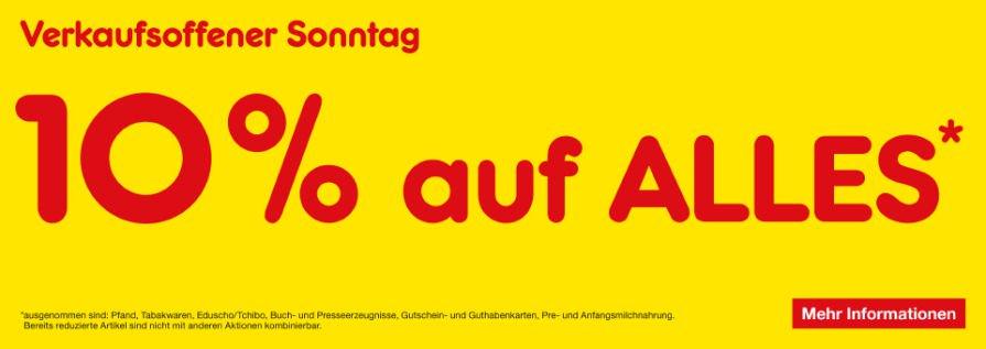 [Lokal Braunschweig] Am verkaufsoffenen Sonntag (29.09.) bei DM, Edeka + Netto 10% Rabatt