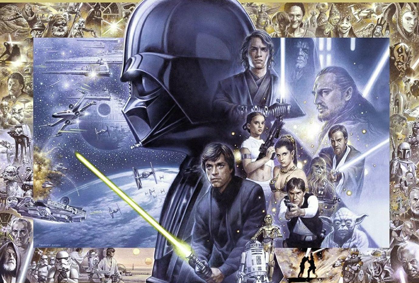 "Ravensburger 5.000tlg. Puzzle ""Star Wars I-VI"" 153 x 101 cm"