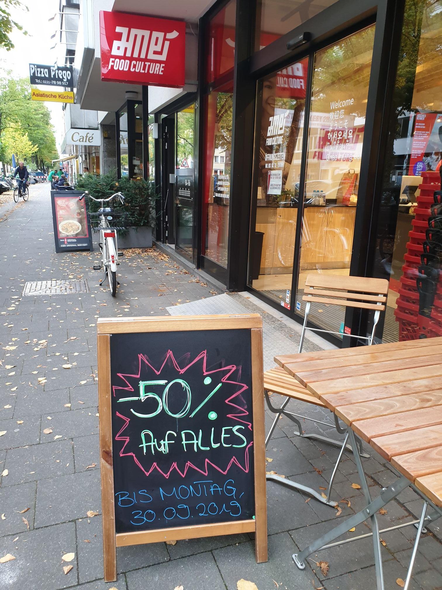 (Lokal Köln) 50% auf alles bei Amei Food Culture - asiatischer Supermarkt mit Bistro
