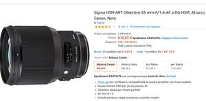 Sigma Art 85mm Canon Nikon 135mm Canon bei Amazon.it im Angebot