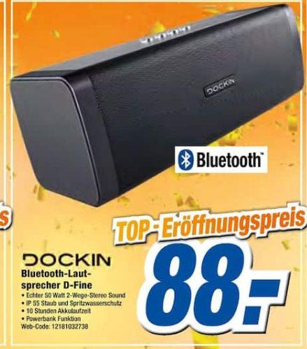 [Regional Expert Schleswig/Eutin/Bad Oldesloh/Bad Segeberg] DOCKIN 213695 D Fine Bluetooth Lautsprecher, Schwarz für 88,-€