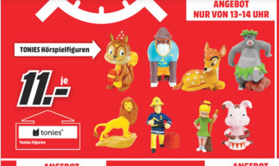 Lokal Media Markt Recklinghausen: Tonies Figuren von 13-14 Uhr 11,- EUR