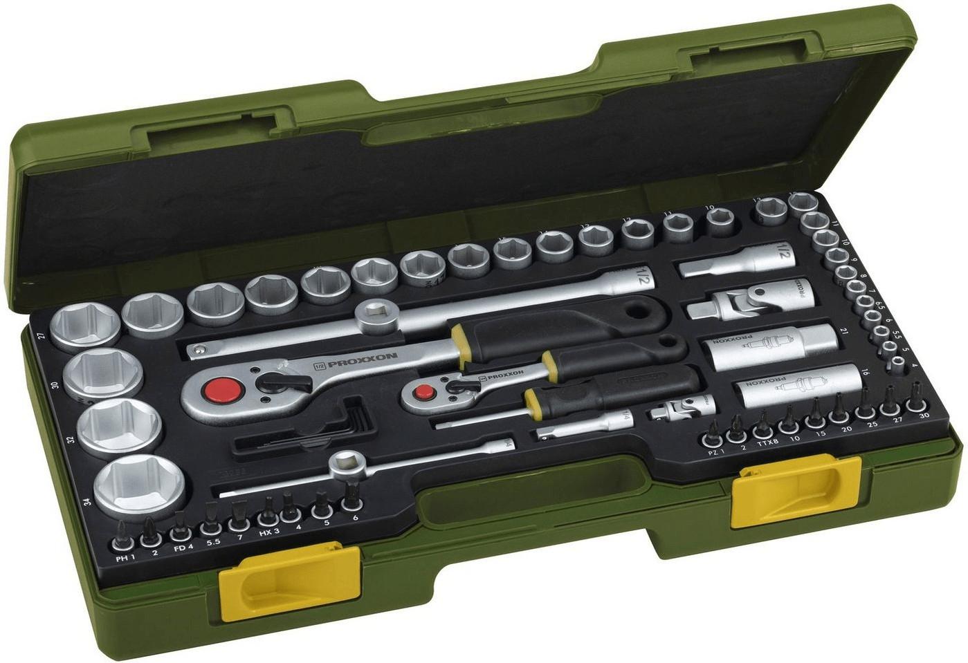Proxxon Steckschlüsselsatz 65-tlg.im Koffer für 71,99 Euro [Globus Baumarkt-Filiale]