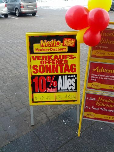 [Lokal] NETTO Schloß-Holte -10% auf alles am 16.12. (Verkaufs offener Sonntag)