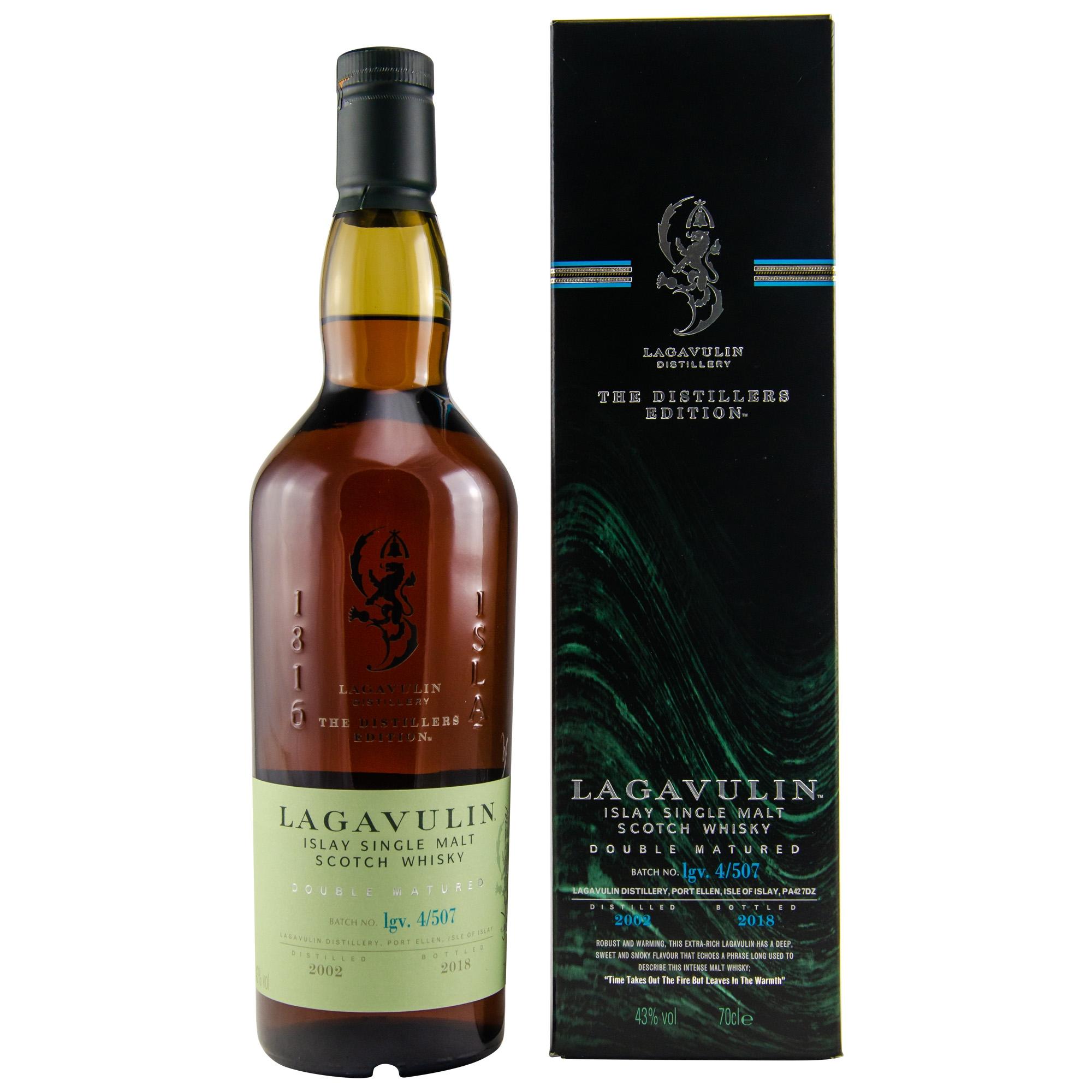 Lagavulin Distillers Edition 2002/2018, Talisker Port Ruighe, AnCnoc 24 Single Malt Whisky