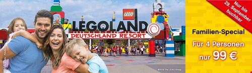 Legoland DE Familien-Special (Aktion noch buchbar, obwohl am 29.09. abgelaufen)