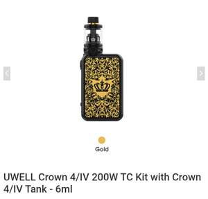 Uwell Crown 4  200W TC Kit + Crown 4 Tank 6ml - Versand aus Deutschland