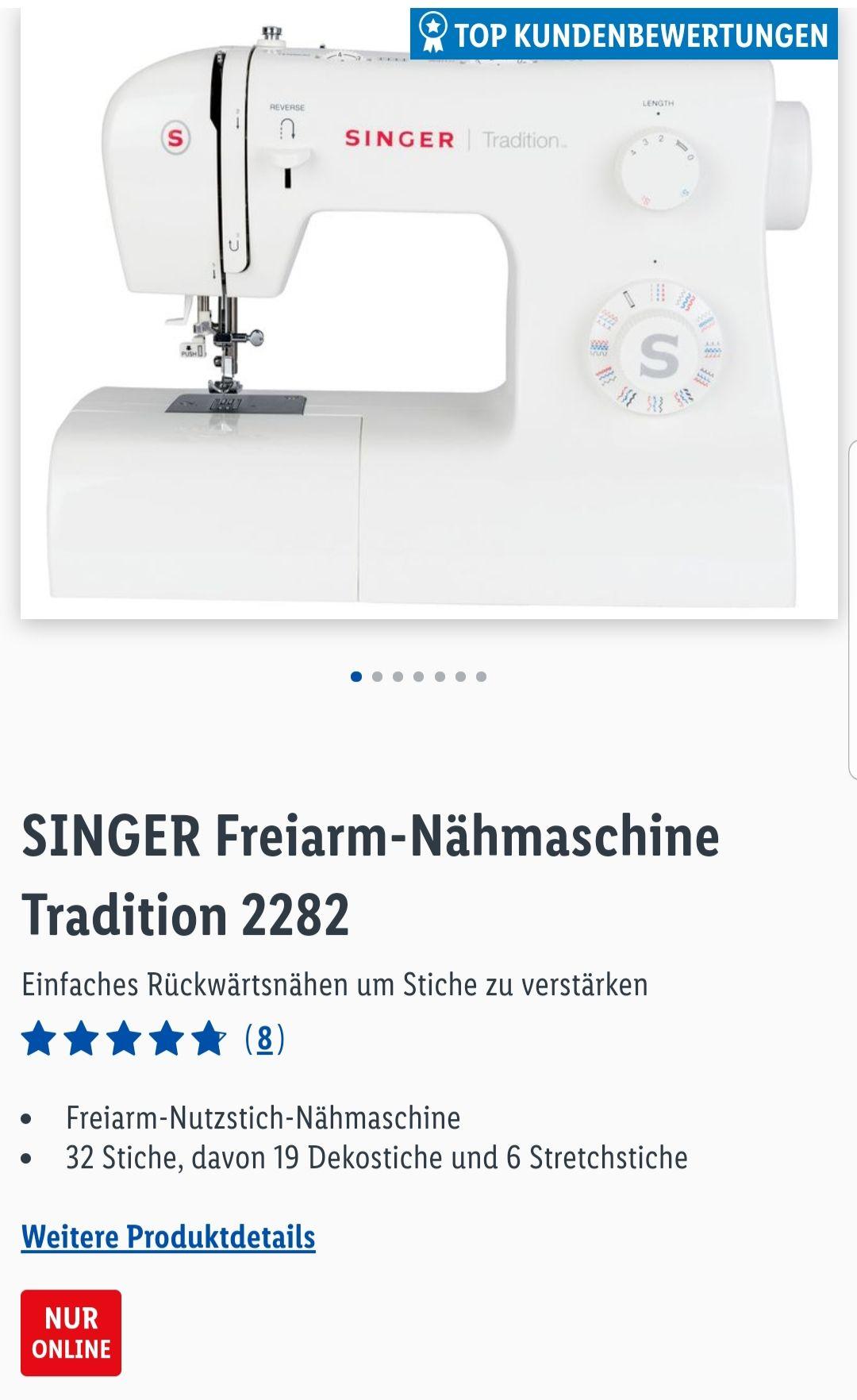 Singer Nähmaschine 2282 Tradition