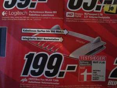 FRITZ!BOX FON WLAN 7390 @MediaMarkt Essen - 199,00 €