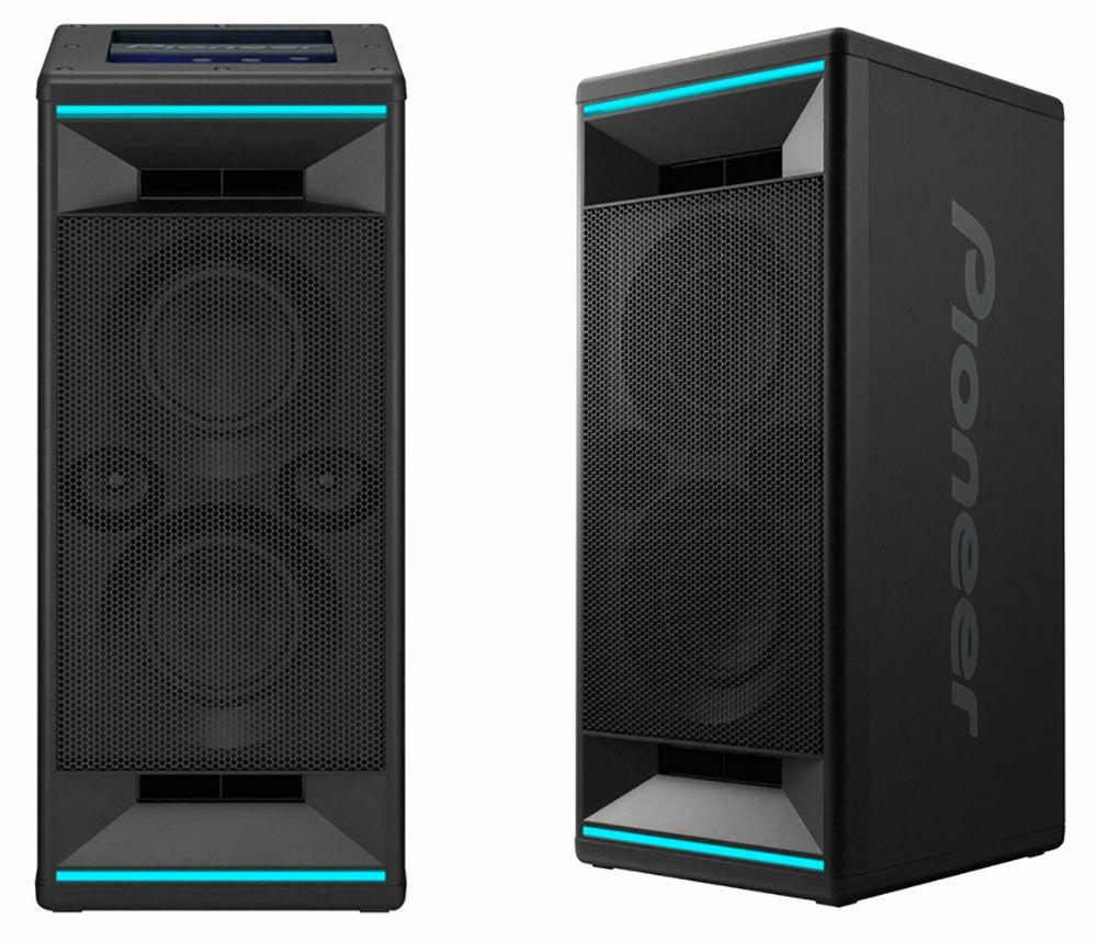 Pioneer Club5: Bluetooth Lautsprecher (2-Wege, 2x 5cm Hochtöner, 2x 13cm Tieftöner, 60W/60W, LED Beleuchtung)