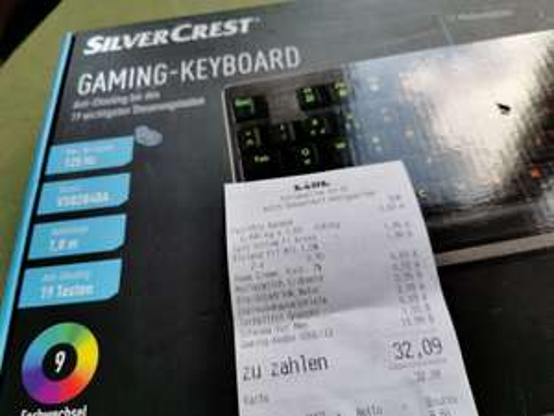 [Lokal: Lidl Düsseldorf Königsallee] Gaming Keyboard Silvercrest  semi-mechanische Tastatur