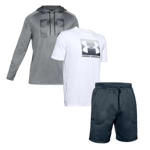 Under Armour Outfit 3-teilig aus Hoody, T-Shirt und Shorts