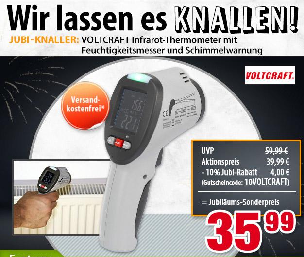 VOLTCRAFT IR-SCAN-350RH, Infrarot-Thermometer, Taupunktscanner, Berührungslose IR-Messung
