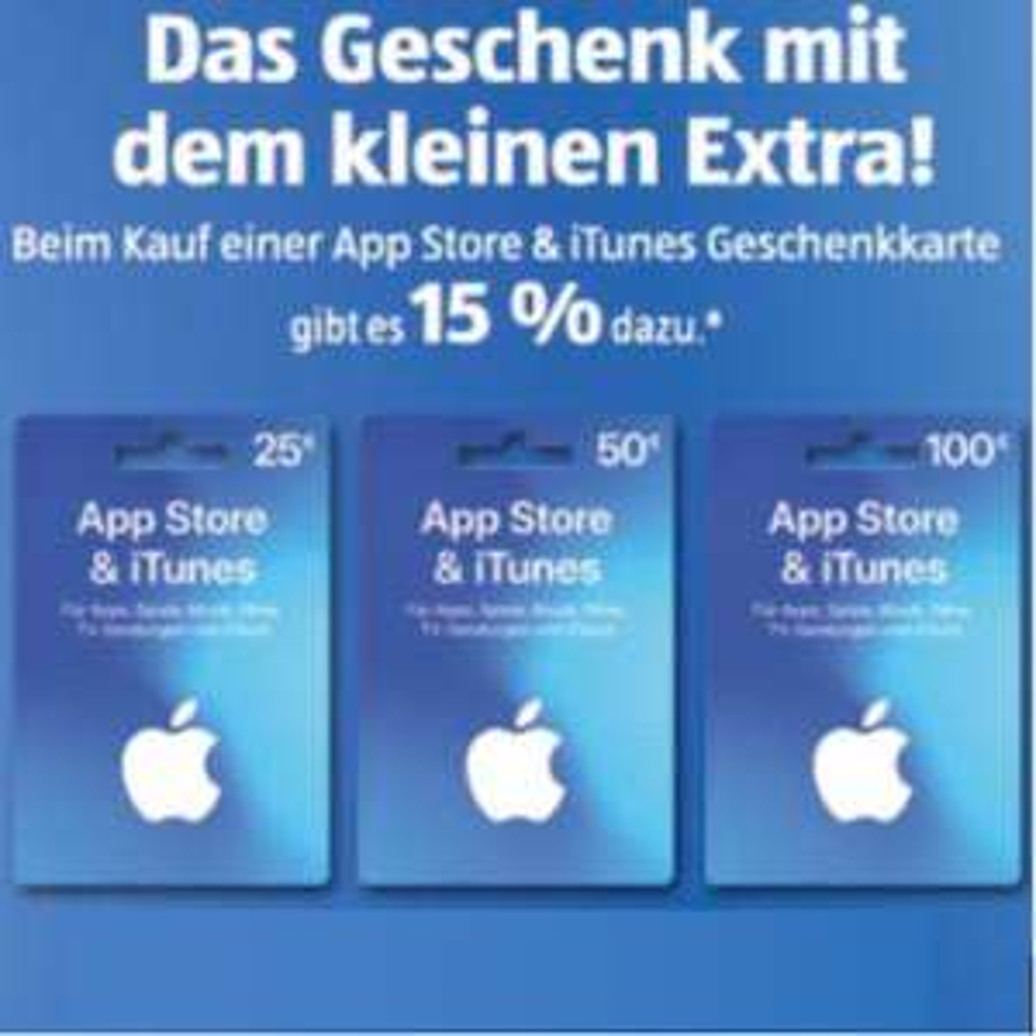 iTunes Guthaben 15% geschenkt ab 25€ [ALDI Süd]