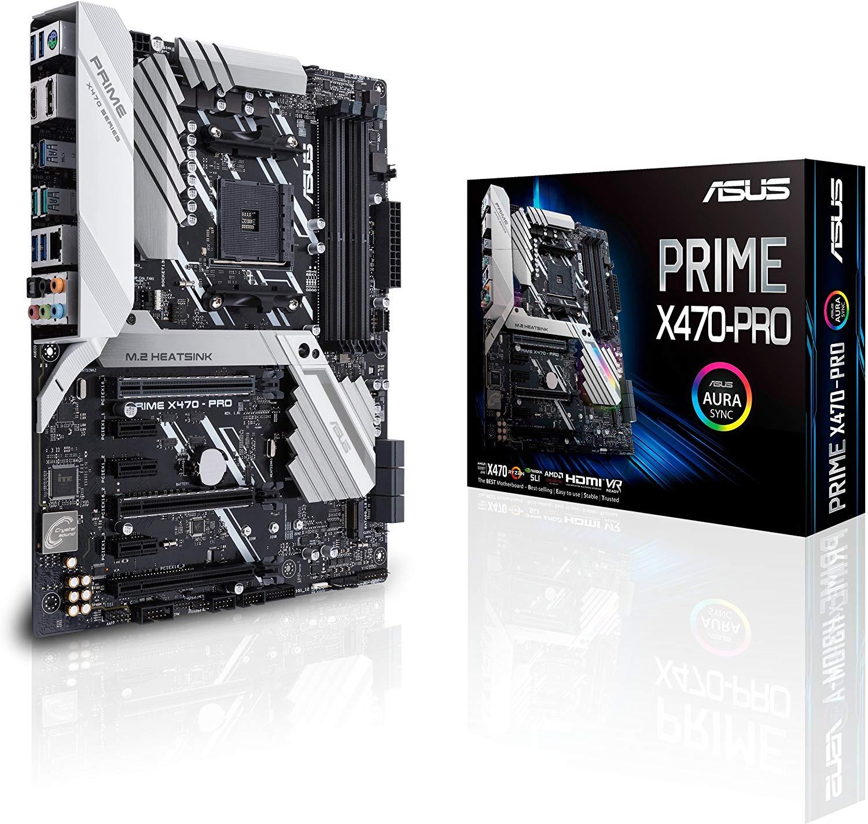 [AMAZON.it] Asus Prime X470-PRO Mainboard AM4 (ATX, X470-Chipsatz, Aura-Sync, DDR4 3466MHz, dual M.2, USB 3.1 Gen 2)