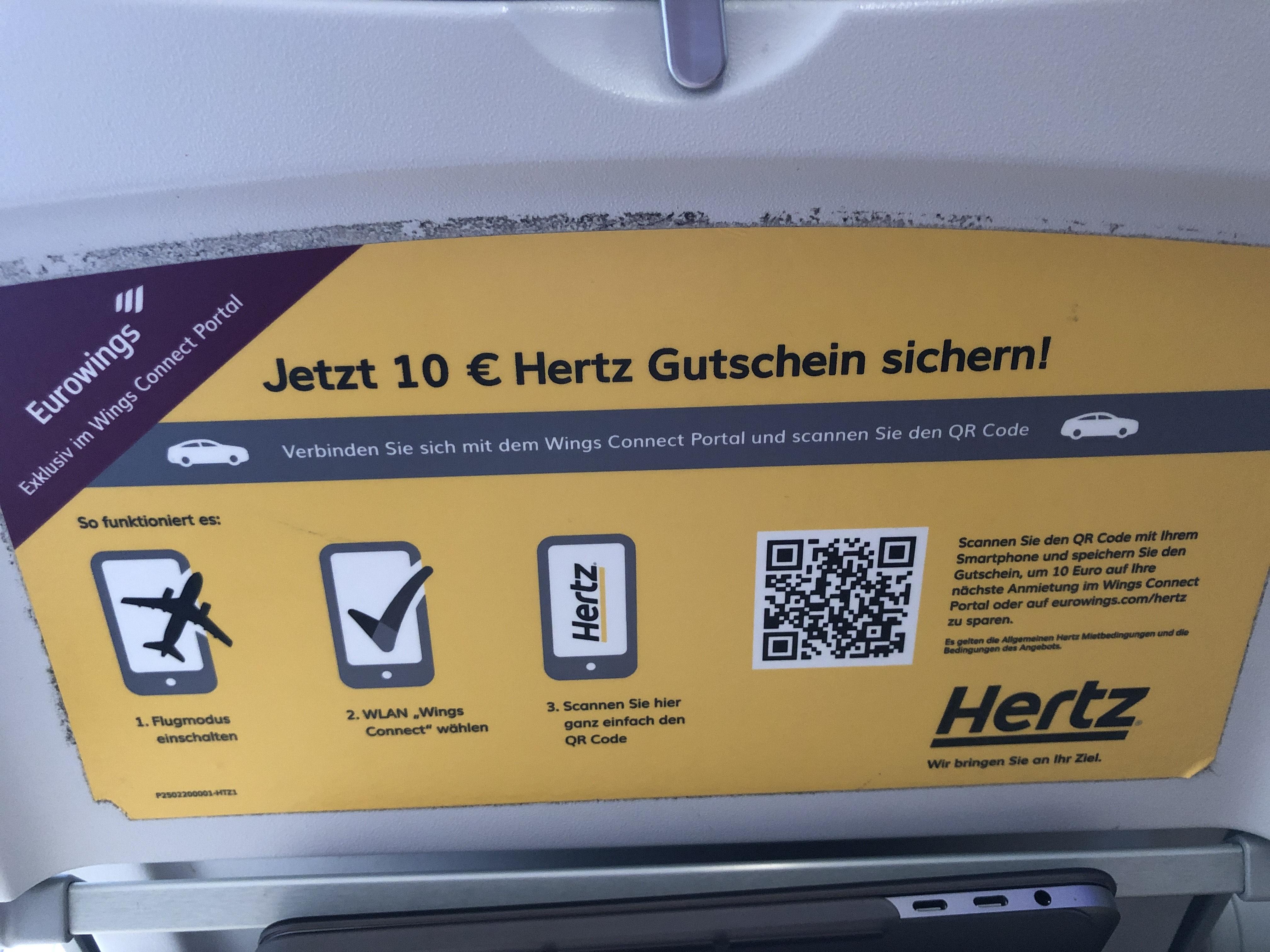10€ Rabatt bei Hertz für Privatkunden