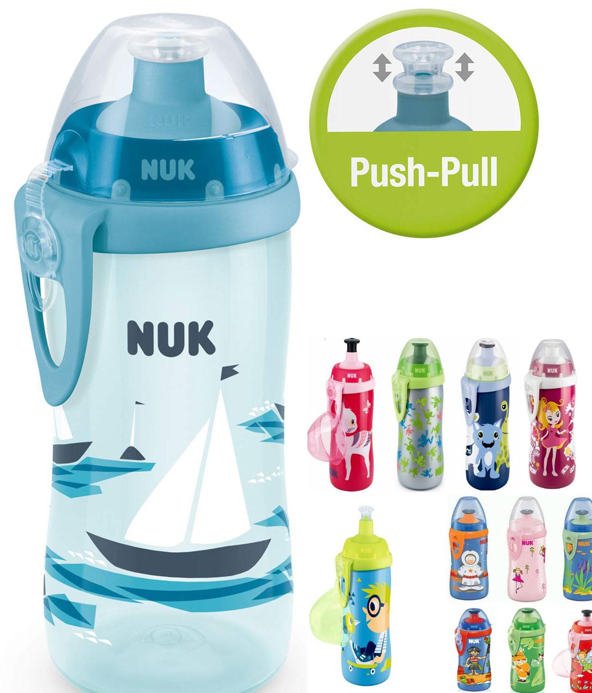 NUK Junior Cup - 300ml Trinklernflasche mit Push-Pull-Tülle & Clip / dank App-Coupons