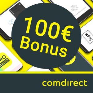 100€ Prämie fürs kostenlose Comdirect Girokonto nach 3 mobilen Zahlungen mit Apple Pay oder Google Pay ab 0,01€ (Neukunden)