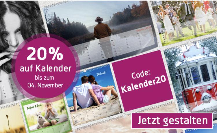 Jetzt 20% auf alle Fotokalender bei Foto Premio