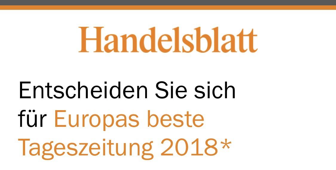 Handelsblatt Premium 1 Monat 1€!