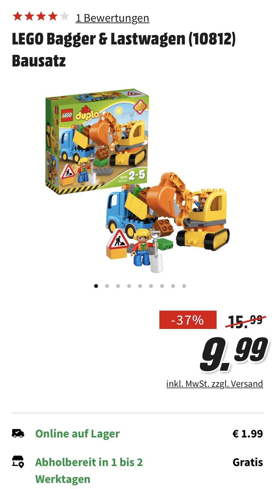 Lego Duplo Bagger und Lastwagen Preis bei Filialabholung Media Markt