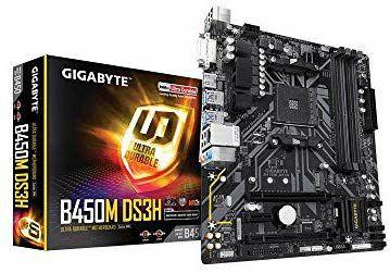 Gigabyte B450M DS3H micro-ATX Mainboard - Socket AM4, 4x DDR4, 1x PCIe (Amazon UK)