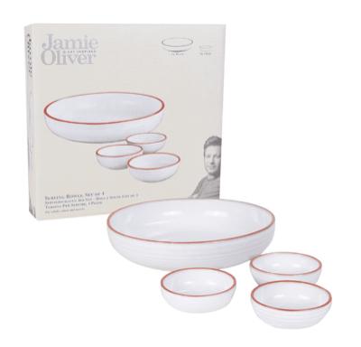 Küchenzubehör-Sale bei top12, z.B. 4-teiliges Servierschalen-Set von Jamie Oliver aus Terracotta-Keramik