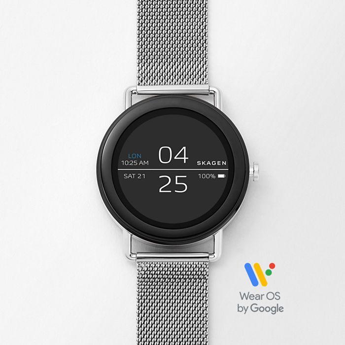 GENERALÜBERHOLT Smartwatch Skagen Falster 1 - Milanaise Edelstahlarmband