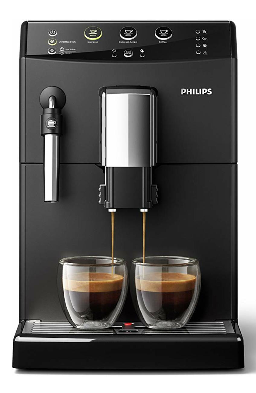 Philips 3000 Serie HD8827/01 Kaffeevollautomat (1850 W, klassischer Milchaufschäumer, Keramikmahlwerk) schwarz