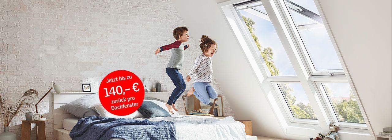 Velux Cashback-Aktion auf Dachfenster (auch andere Hersteller) max. 140 €